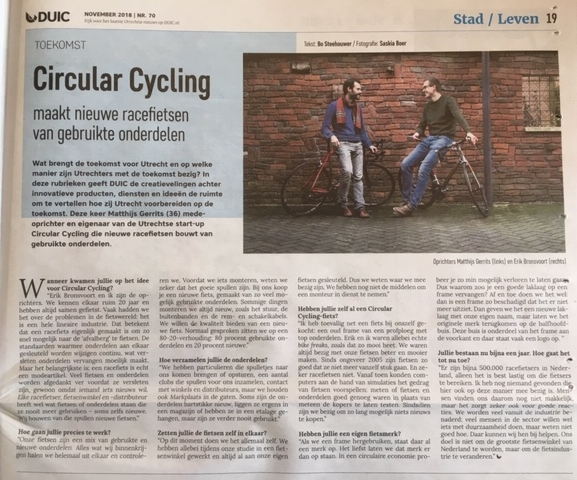 DUIC interview met Circular Cycling