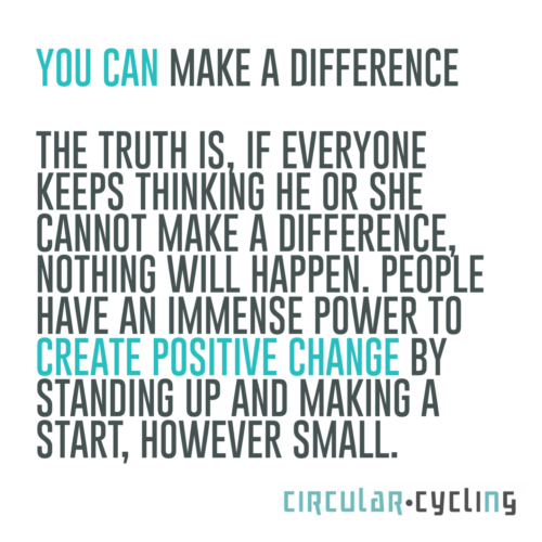 Quote you can make a differenct